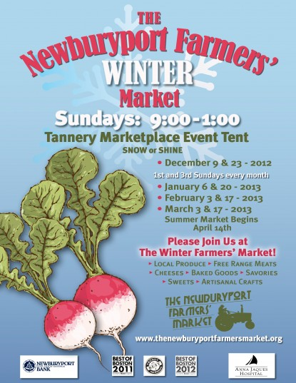 Winter farmers market, local food, local produce